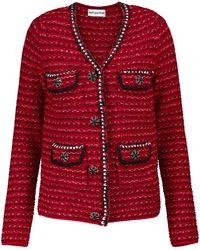 Self-Portrait Cárdigan en mezcla de lana adornado - Rojo