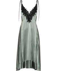 Dorothee Schumacher Satin Seduction Silk Dress - Green