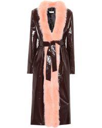 Attico - Exclusive To Mytheresa. Com – Vivian Fur-trimmed Coat - Lyst