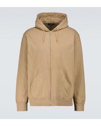 Comme des Garçons - Zipped Cotton Sweatshirt - Lyst