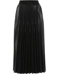 Givenchy Jupe midi en jersey enduit - Noir