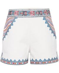 Talitha | Embroidered Cotton Shorts | Lyst