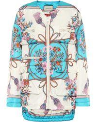 Gucci - Floral-printed Gabardine Jacket - Lyst