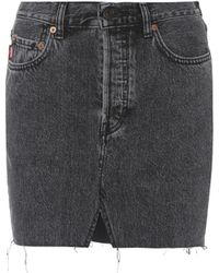 Vetements Denim Miniskirt - Black
