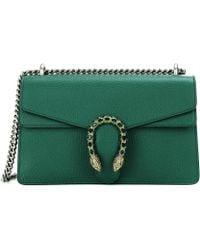 Gucci Dionysus Leather Super Mini Bag - Green