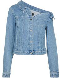 RTA Rebecca One-shoulder Denim Jacket - Blue