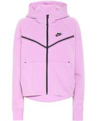 Nike Tech Fleece Zipped Hoodie - Pink