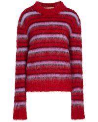 Marni Pullover aus einem Mohairgemisch - Rot