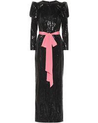 Monique Lhuillier - Sequined Column Gown - Lyst