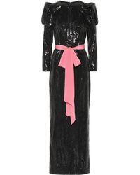 Monique Lhuillier - Vestido tubo de fiesta de lentejuelas - Lyst