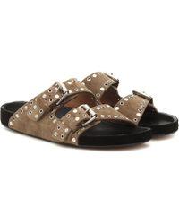 Isabel Marant - Lennyo Embellished Suede Sandals - Lyst