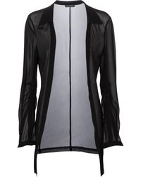 Ann Demeulemeester Sheer Jacket - Black