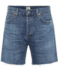 Citizens of Humanity High-Rise Jeansshorts Bailey - Blau