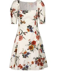 Brock Collection Floral Cotton Mid Dress - White