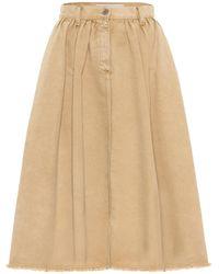 Golden Goose Adele Denim Midi Skirt - Natural