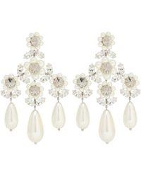 Simone Rocha Ohrringe mit Perlen und Kristallen - Weiß