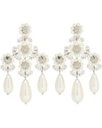 Simone Rocha Embellished Faux-pearl Earrings - White