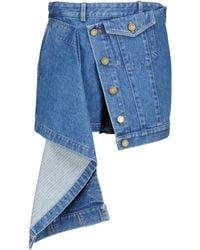 Monse Minifalda de jeans asimétrica - Azul