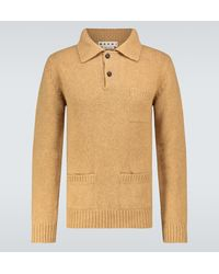 Marni Polopullover aus Wolle - Natur