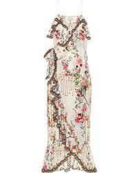 Camilla Embellished Silk Maxi Dress - Multicolor