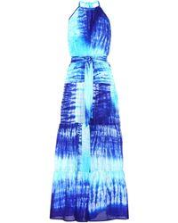 Juliet Dunn Tie-dye Silk Maxi Dress - Blue