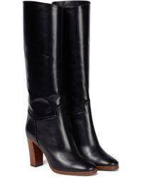 Victoria Beckham Valentina Knee-high Leather Boots - Black