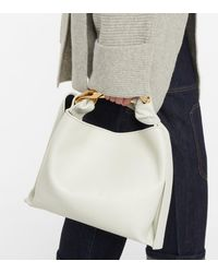 JW Anderson Sac porté épaule Chain Small en cuir - Blanc