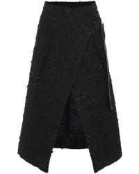 Moncler Genius Jupe en tweed 2 MONCLER 1952 - Noir