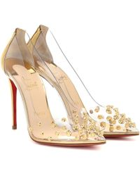3b8065d2e3c Collaclou 100 Embellished Pvc Court Shoes - Metallic