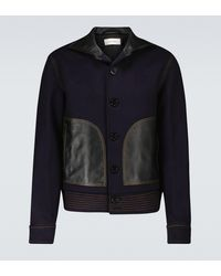Wales Bonner Brixton Wool And Cashmere Jacket - Blue