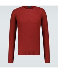 Zanone Jersey Giro de lana cuello redondo - Rojo