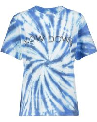 Étoile Isabel Marant T-Shirt Zewel aus Baumwoll-Jersey - Blau