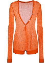Dodo Bar Or Body con cuello en V - Naranja