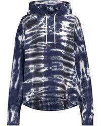 Tory Sport Tie-dye Cotton Hoodie - Blue