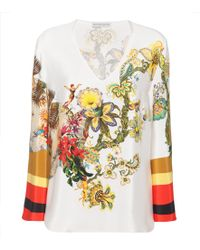 Etro - Printed Silk-blend Top - Lyst