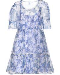 Sir. The Label Anais Floral Silk Organza Minidress - Blue
