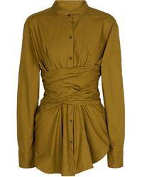 Proenza Schouler White Label Cotton Shirt - Green
