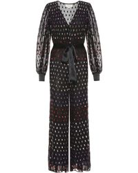 Temperley London Wendy Sequined Tulle Jumpsuit - Black