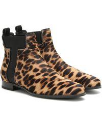 Tod's Botines con estampado de leopardo - Marrón
