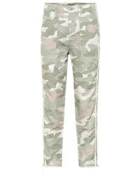 Mother Pantaloni The Shaker Chop Crop Fray - Multicolore