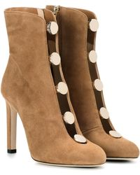 Jimmy Choo - Loretta 100 Suede Ankle Boots - Lyst