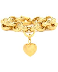 Timeless Pearly Exclusive To Mytheresa – Gold-plated Bracelet With Heart Charm - Metallic