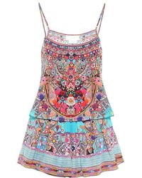 Camilla - Printed Silk Jumpsuit - Lyst