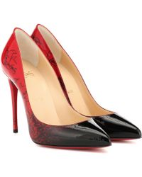 Christian Louboutin Exclusivo en Mytheresa – salones Pigalle Follies 100 de piel - Rojo