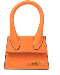 Jacquemus Tote Le Chiquito de piel - Naranja