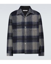 Our Legacy Heusen Checked Shirt - Blue