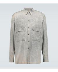 Rochas Langarmhemd Quartilla aus Seide - Grau