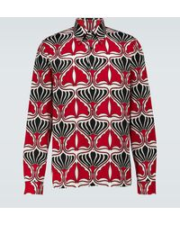 Prada Camisa de algodón estampada - Rojo