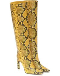 The Attico Stiefel aus Leder - Gelb