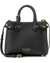 5ba21fd5b67c Burberry - The Baby Banner Leather Shoulder Bag - Lyst
